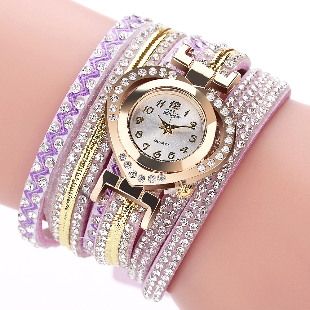Duoya love Watch Bracelet Watch Ladies Wristwatch Women'S Casual Clocks Fashion Women Gold Classic Watches