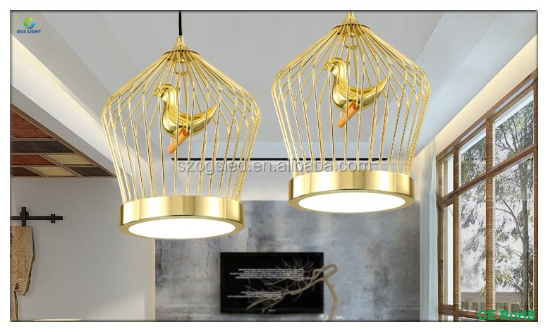 Treppen Led Beleuchtung Single Kopf Kronleuchter Industriellen Eisen Kabel  Acryl Vogel Harz Im Inneren