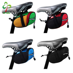 Multicolor easy installation waterproof western mountain bicycle saddle bag, road cycling bike rear bag
