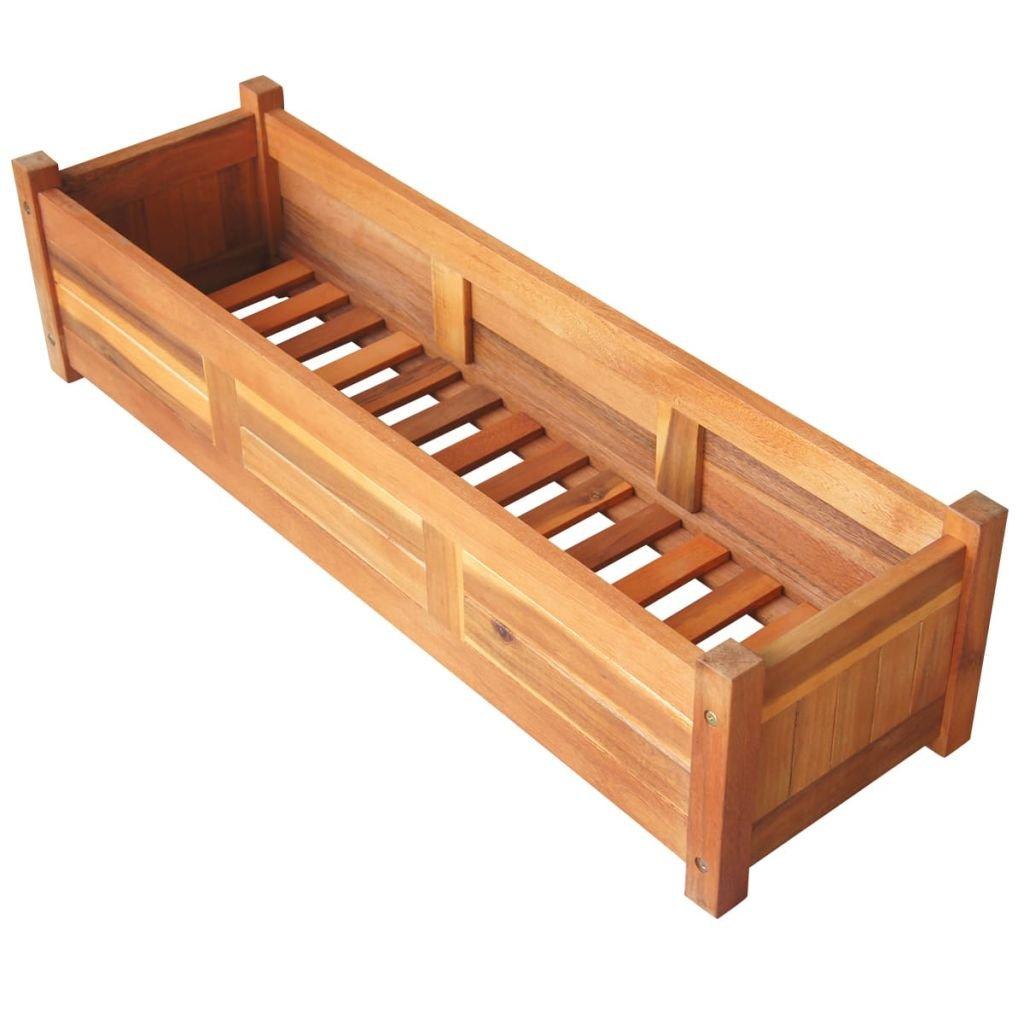 """Festnight Wood Raised Garden Bed Planter 39.4"""" x 11.8"""" x 9.8"""""""