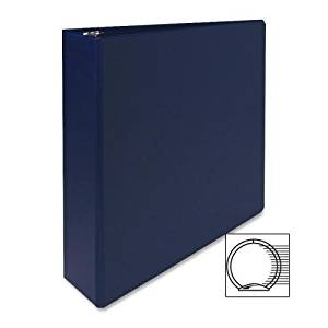 "03500 Sparco Vinyl Ring Binder - 2"" Binder Capacity - Letter - 8.50"" Width x 11"" Length Sheet Size - 3 x Round Ring Fastener - 2 Pockets - Vinyl - Dark Blue - 1 Each"
