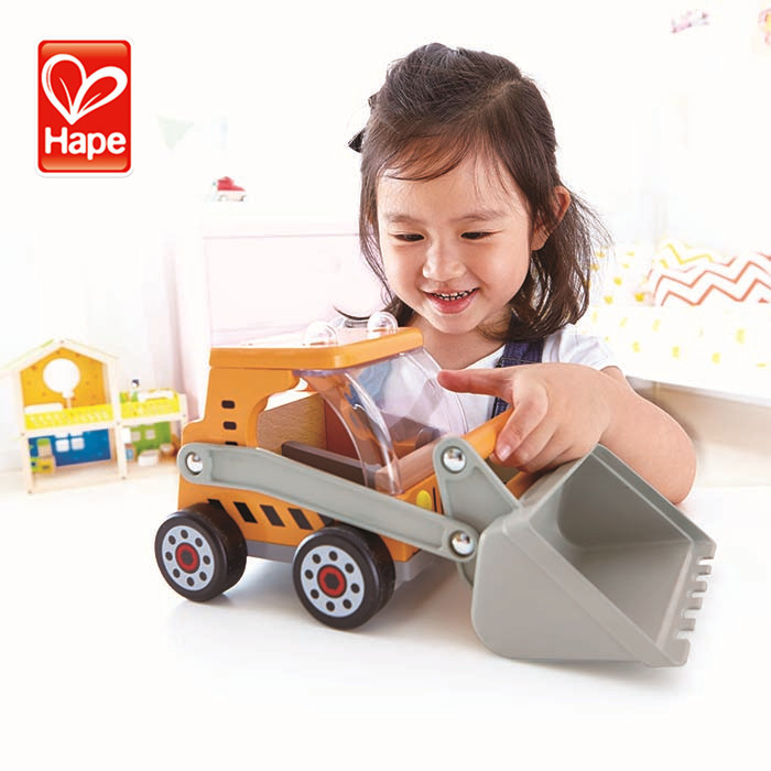 Kids wholesale cheap mini wooden construction toy truck