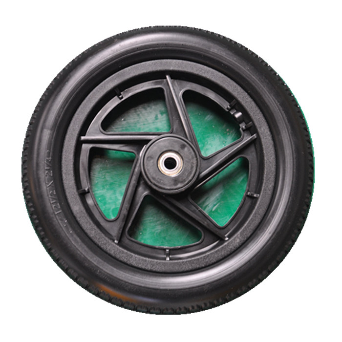 12 1 2x2 1 4 solid pu wheel with plastic rim for strong. Black Bedroom Furniture Sets. Home Design Ideas