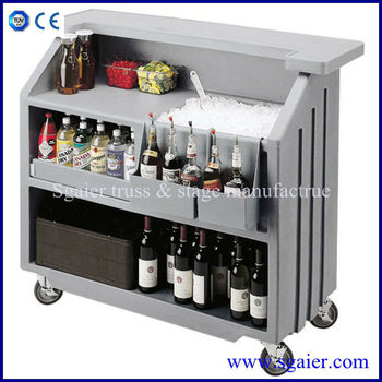 Hot Selling Folding Portable Bar Counter Design With Wheels