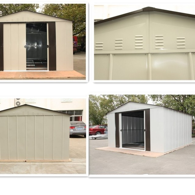 elegant 6x7 feet movable metal garden shed prefab tiny tool cabin for storage