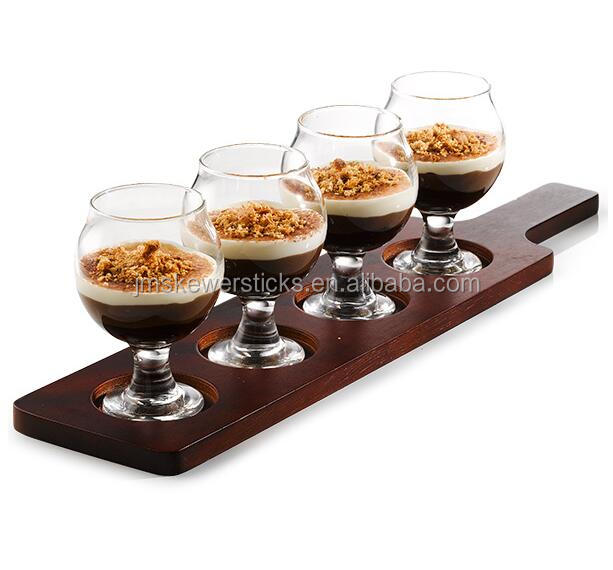 Wooden Beer Paddle Best Drink Glass Tray Wood Beer Flight wholesale