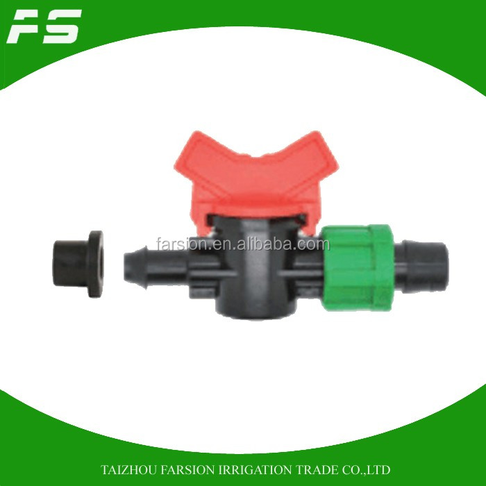 DN16 Offtake Drip Irrigation Tape Valve With End Plug