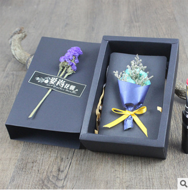 Box handmade greeting cards source quality box handmade greeting 2017 hot sell handmade decoration greeting card creative black paper dried flower gift box blessing card m4hsunfo