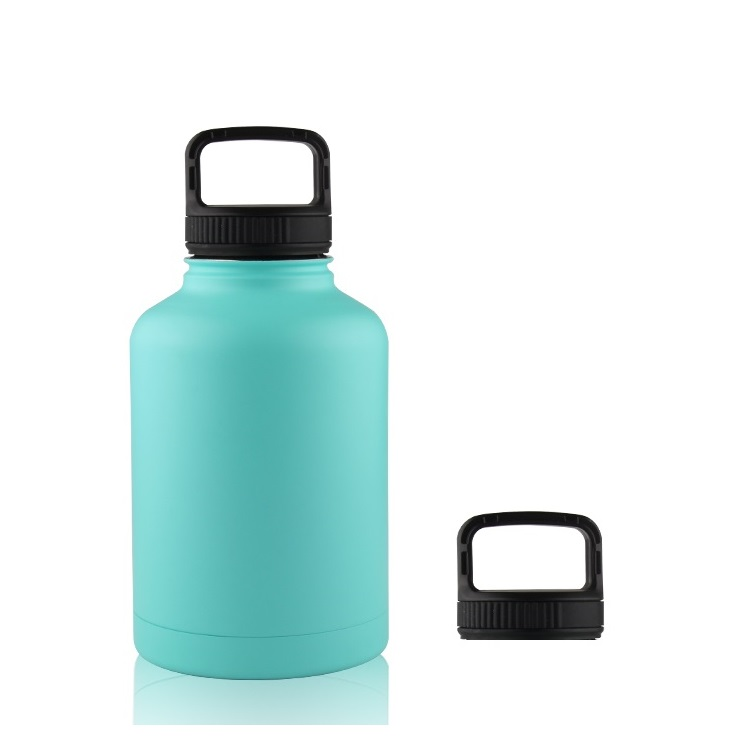 Hot sale Wide Mouth Vacuum Insulated 18/8 Stainless Steel Powder Coated 64oz, travel Water Bottle