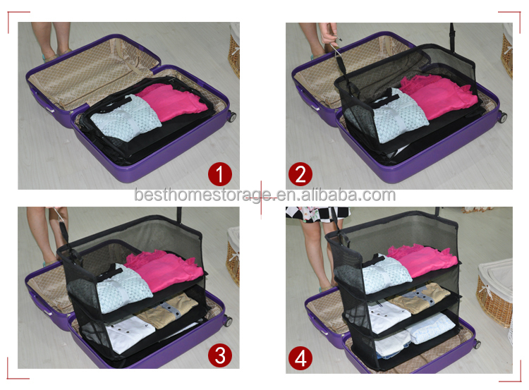 Travel Suitcase Easy Hanger Hanging Clothes Closet Organizer