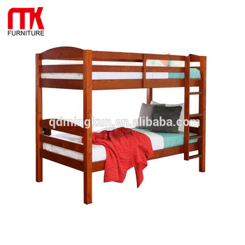 Solid Pine Wood Twin Double Bunk Bed Twin Bunk Bed For Adult Full