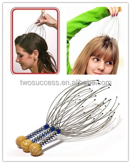 High Quality New Fashion Wholesale Stainless Steel Octopus Handy Head Scalp Neck Massager