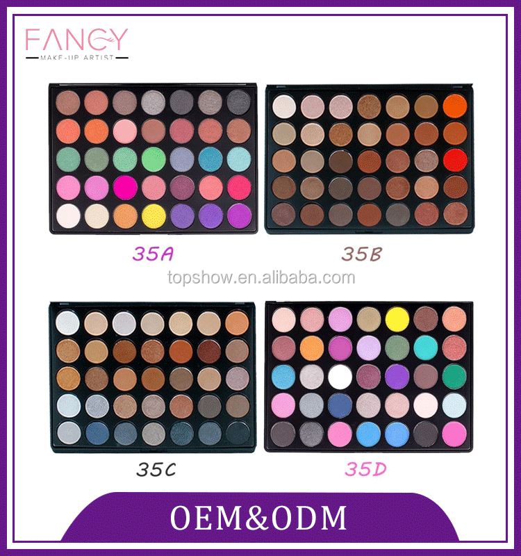 Custom paper wholesale private label empty naked makeup multi colored eyeshadow palette