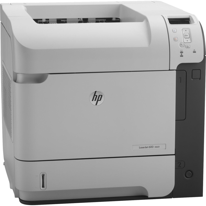 HP CE989A LaserJet Enterprise 600 M601n - Printer - monochrome - laser - A4/Legal - 1200 x 1200 dpi - up to 45 ppm - capacity: 600 sheets - USB, Gigabit LAN