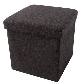 Fantastic Storage Ottoman Cube Folding Footrest Stool Charcoal Brown Square Fabric Storage Ottoman Buy Square Fabric Storage Ottoman Storage Ottoman Cube Ibusinesslaw Wood Chair Design Ideas Ibusinesslaworg