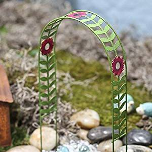 Painted Metal Decorative Garden Arch for Fairy Garden Decorative Bench
