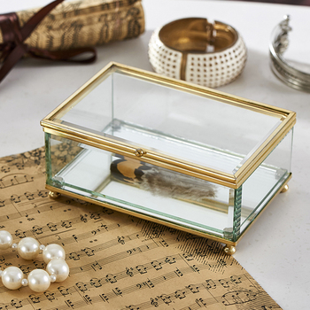 Wholesale Metal Small Glass Jewelry Box Buy Wholesale Metal