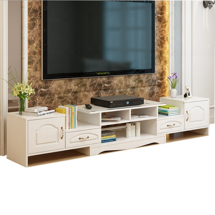 Modern Tv Stand High Media Console Cabinet Entertainment Center With Drawers White Stackable Wood Product On