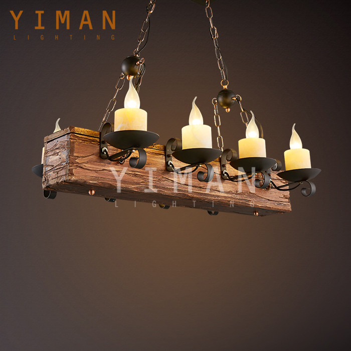 6 bulbs iron in dark rustic color chandelier lighting led