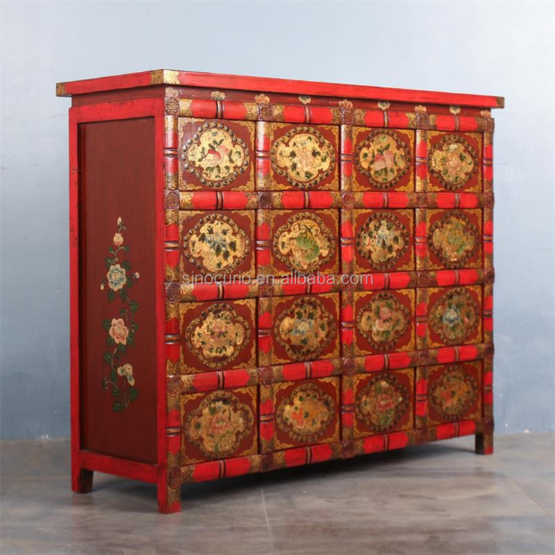 Chinese Hand Painted Furniture Antique Furniture New Tibetan Furniture  Cabinet Living Room
