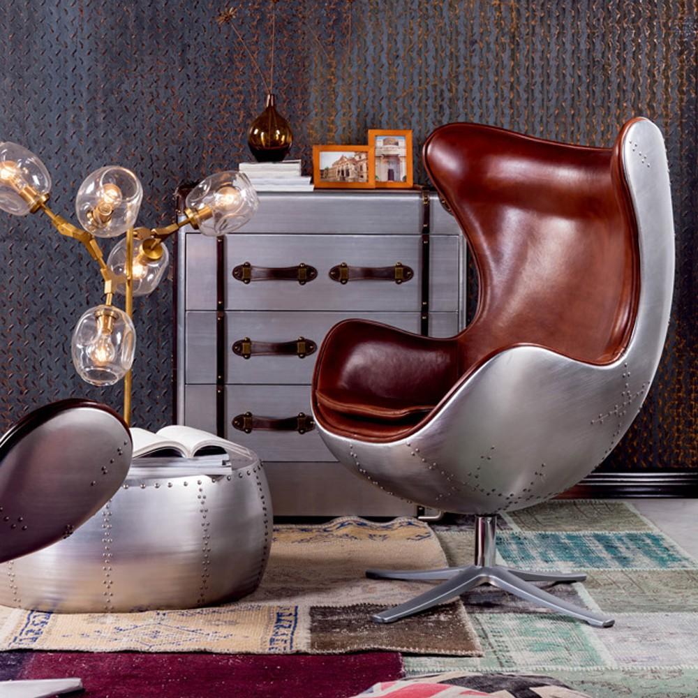 Finden Sie Hohe Qualität Aluminium Leder Egg Chair Hersteller Und Aluminium Leder  Egg Chair Auf Alibaba.com