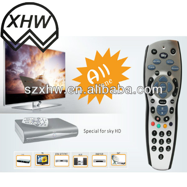 UK market hot selling Rev 9 SKY HD all in one remote control ISO9001-2008