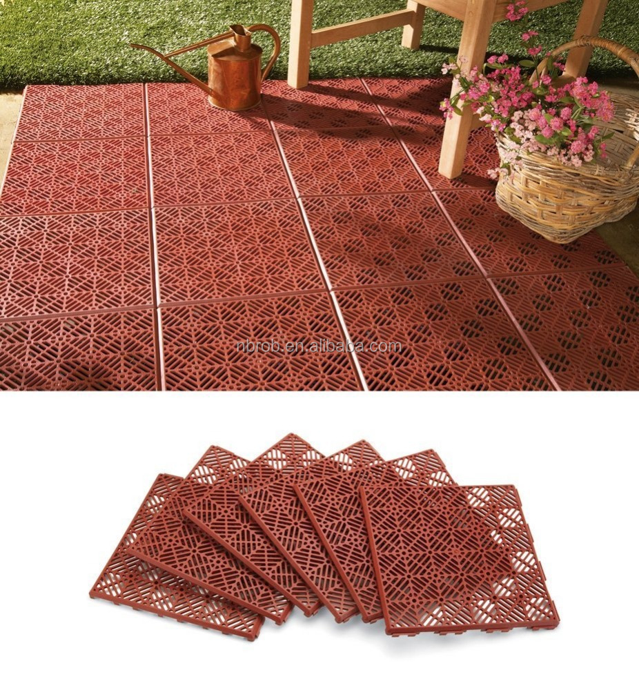 Outdoor Interlocking Plastic Floor Tiles Product On Alibaba