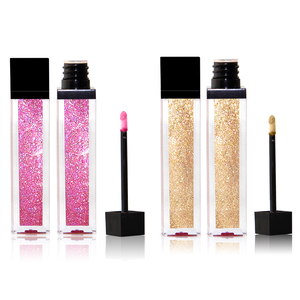 Best quality create your own brand liquid lipstick waterproof glitter lipgloss