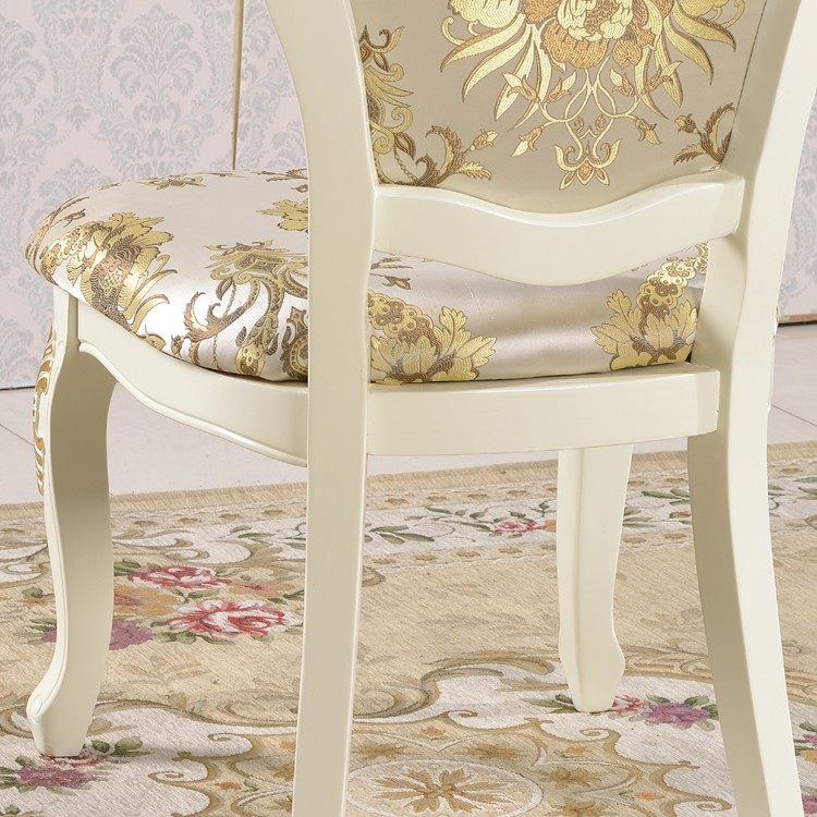 Neo European Style Dressing Chair Antique Dressing Room Chair With Gold  Painted