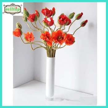 63cm thin silk fabric artificial poppy flower buy 63cm thin silk 63cm thin silk fabric artificial poppy flower mightylinksfo