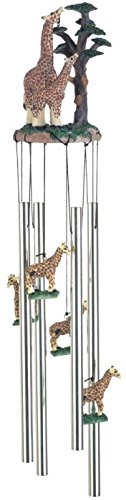 StealStreet SS-G-41016 Wind Chime Round Top Giraffe with Baby Garden Decoration Windchime