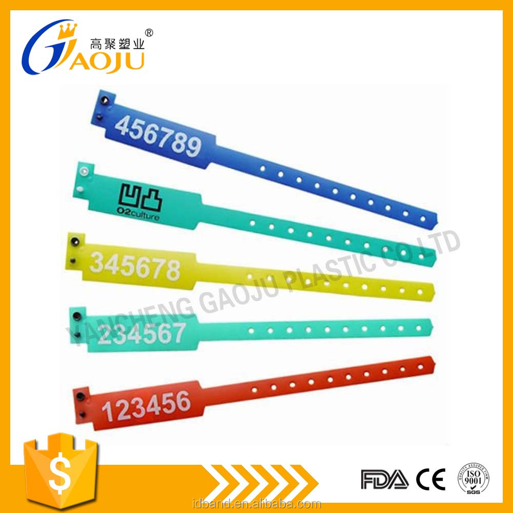 disposable Vinyl ID Wristband Bracelet for event party