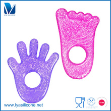 FDA grade soft round shape silicone pendant teether wholesaler