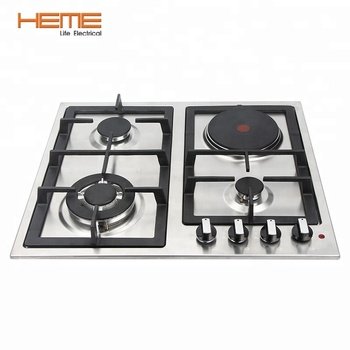 Hot 4 Burner Built In Electric Cooktop With Stainless Steel