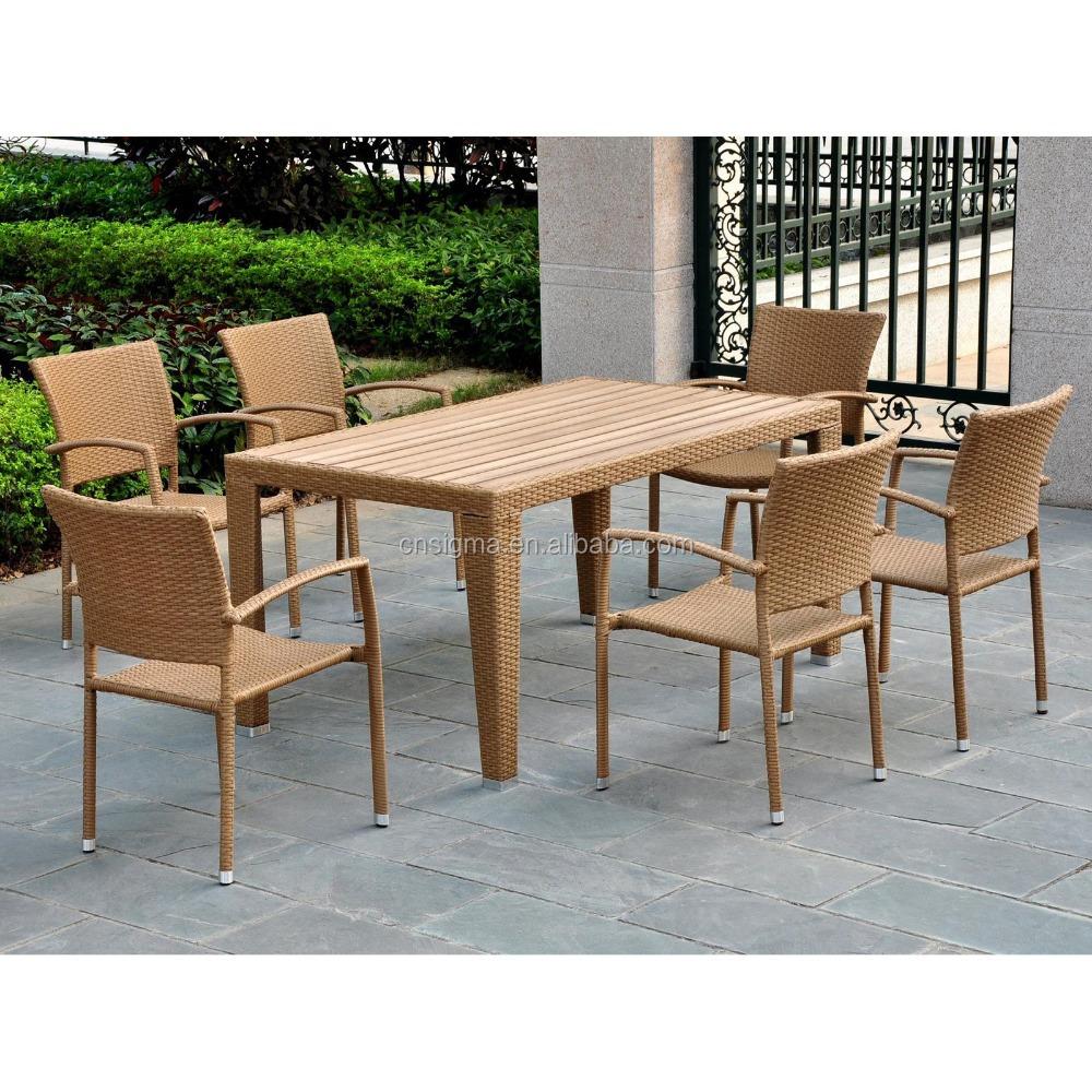 fbrica profesional cubo de madera de teca mesa de comedor sillas de ratn sinttico muebles