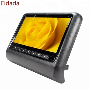 Eidada Factory Price 9 inch Universal Back Sear Lcd Headrest Monitor Car Dvd Player with USB SD FM Game