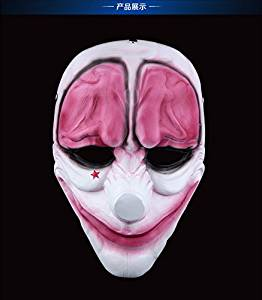 2015 - Resin collection mask Payday 2 Dallas,Hoxton,Wolf,Chains clown Mask Replica The Heist Halloween the hoxton mask