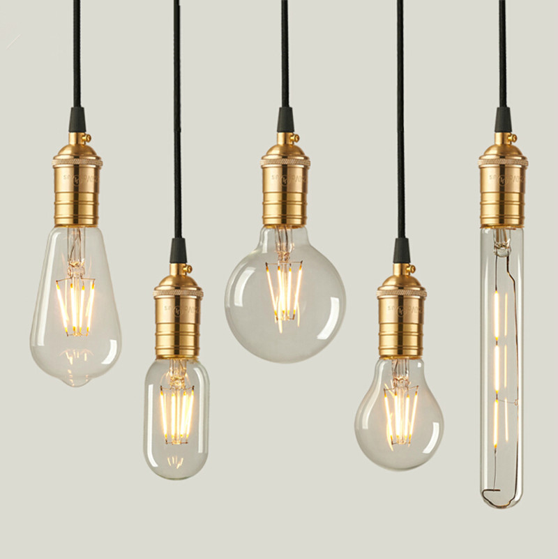retro vintage edison bulbs led e27 filament bulbs warm white clear glass energysaving bulb home. Black Bedroom Furniture Sets. Home Design Ideas