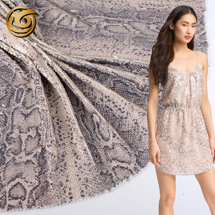 Luxury Cocktail Two Tone Mermaid Fish Scale Sequin Fabric Material SILVER BRONZE