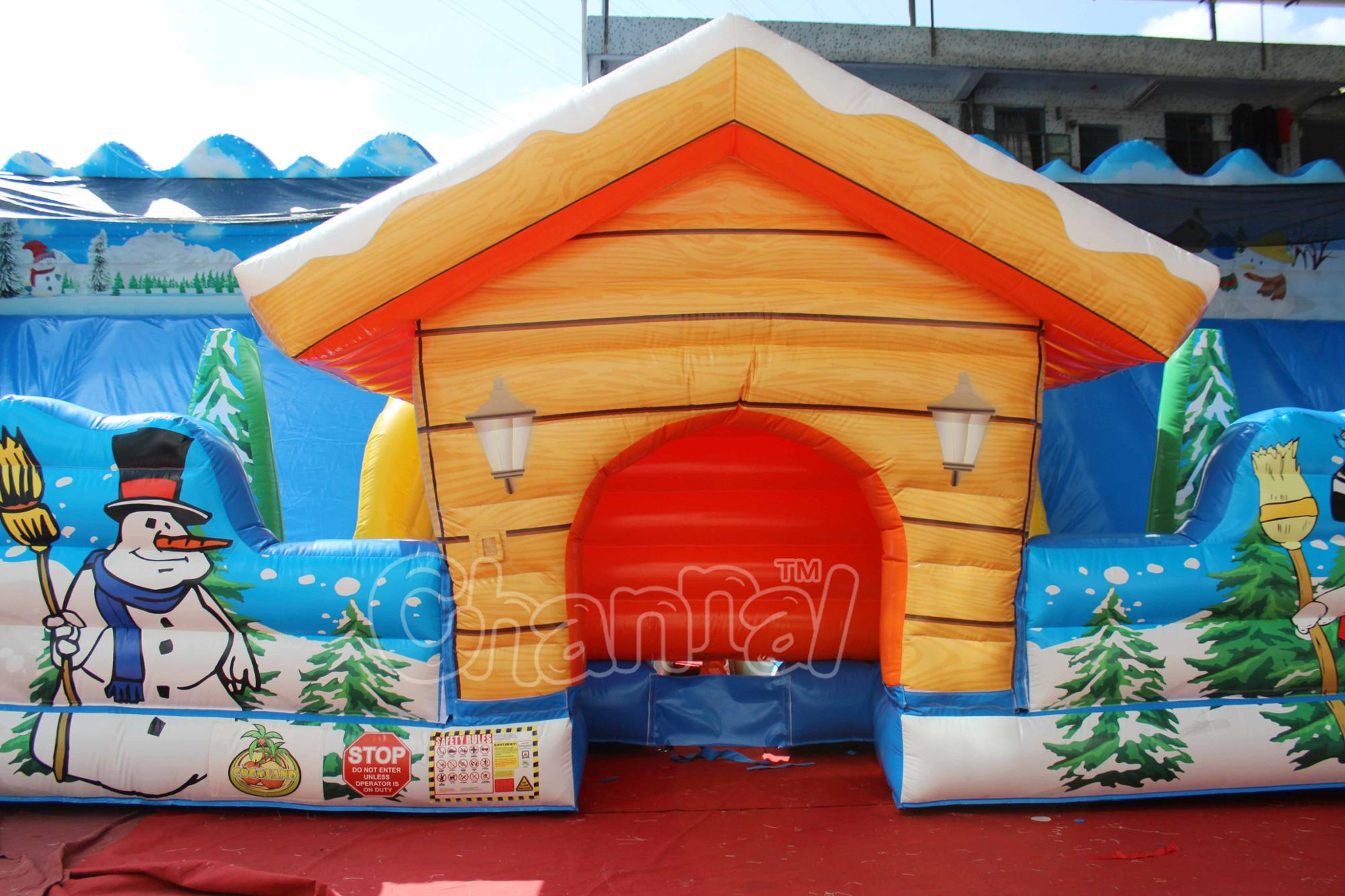 Giant Inflatable dry Slide inflatable fun city inflatable playground on sale