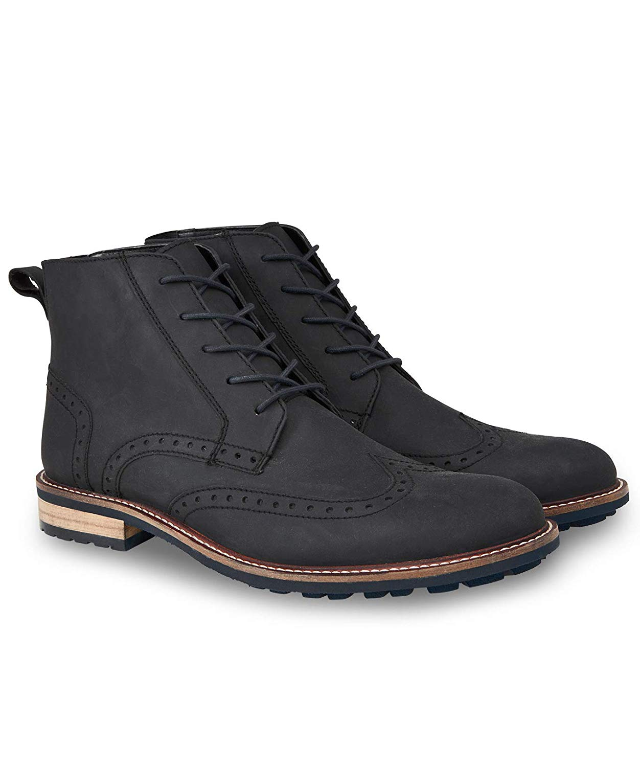 8a625c7401e7e7 Get Quotations · Joe Browns Mens Waxed Leather Brogue Boots