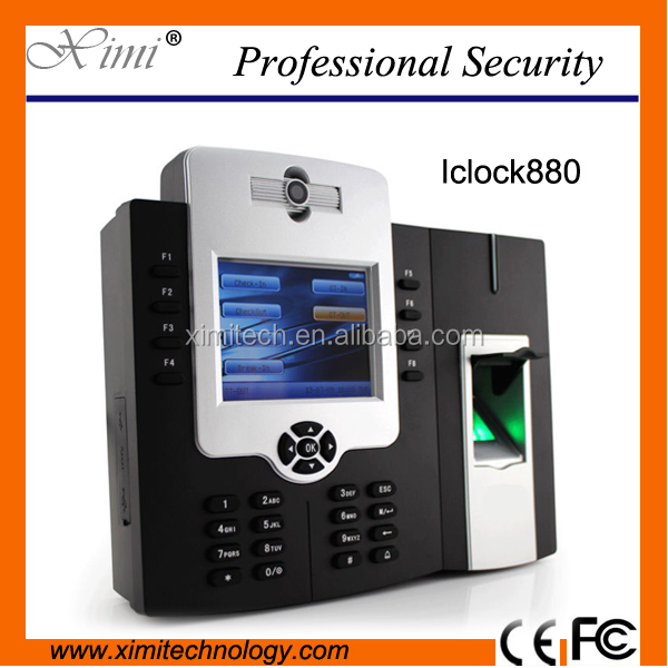 Fingerprint time attendance and access control system with camera optional WIFI and GPRS
