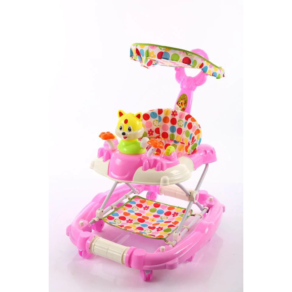 Alibaba Wholesale 2018 new PP plastic beach style toys baby walker with 7 swivel wheels walk along toys for babies