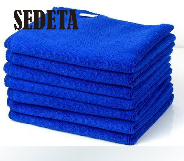 Новый прочный 6 шт. синий микрофибры полотенце для чистка автомобиля стиральная отмыть 30 X 30 см ультрадисперсных
