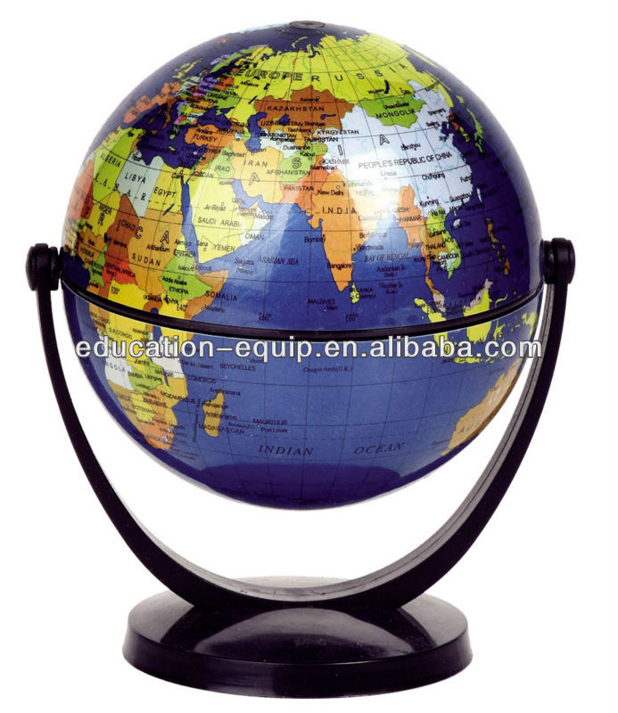 SE71064 Kids Mini Toy Rotating Plasitc World Globe