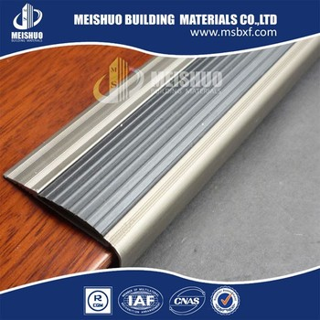 Interior Step Nosing Protection Aluminum Base Noskid Rubber Stair Edging