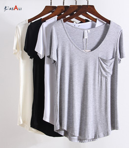 Simple Design Lady Cotton Poly OEM Jersey Style T Shirt Women