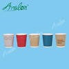 Disposable cheap ripple wall paper coffee cups with lid