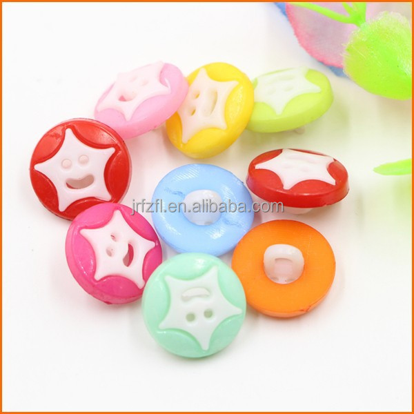 Smile face shape plastic resin fancy buttons