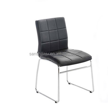 Sensational Cheap Sale Used Home Furniture Pu Sofa Chairs Dining Chair Pu Leather Seat With Chrome Leg Dining Chairs Buy Single Seat Leather Sofa Chair Cheap Machost Co Dining Chair Design Ideas Machostcouk